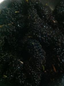 Mulberries..